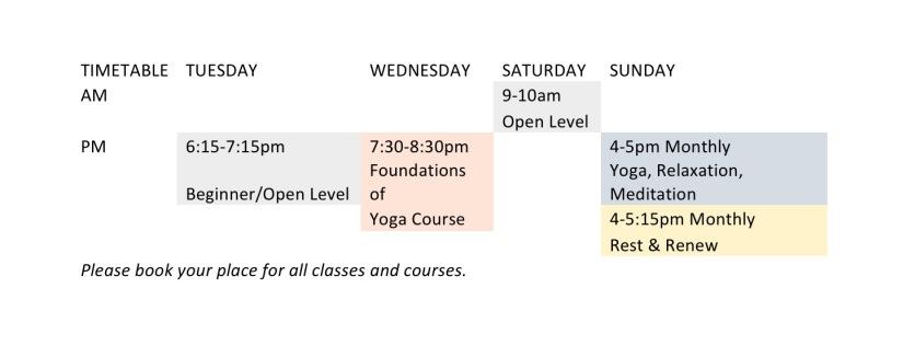 LYF Timetable