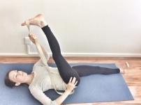 Take the leg across towards opposite shoulder