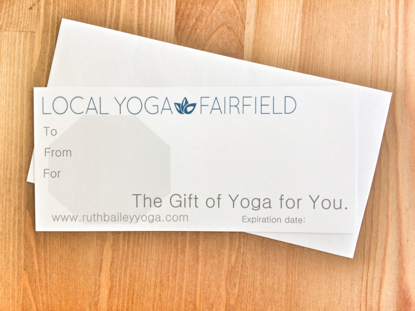 Gift Card Local Yoga Fairfield