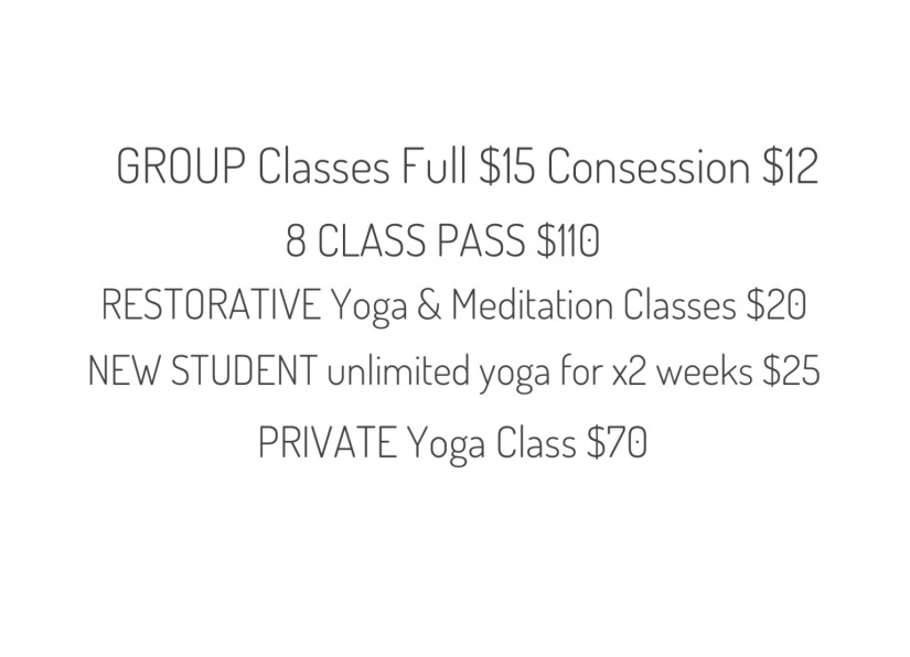 Local Yoga FAIRFIELD Pricelist